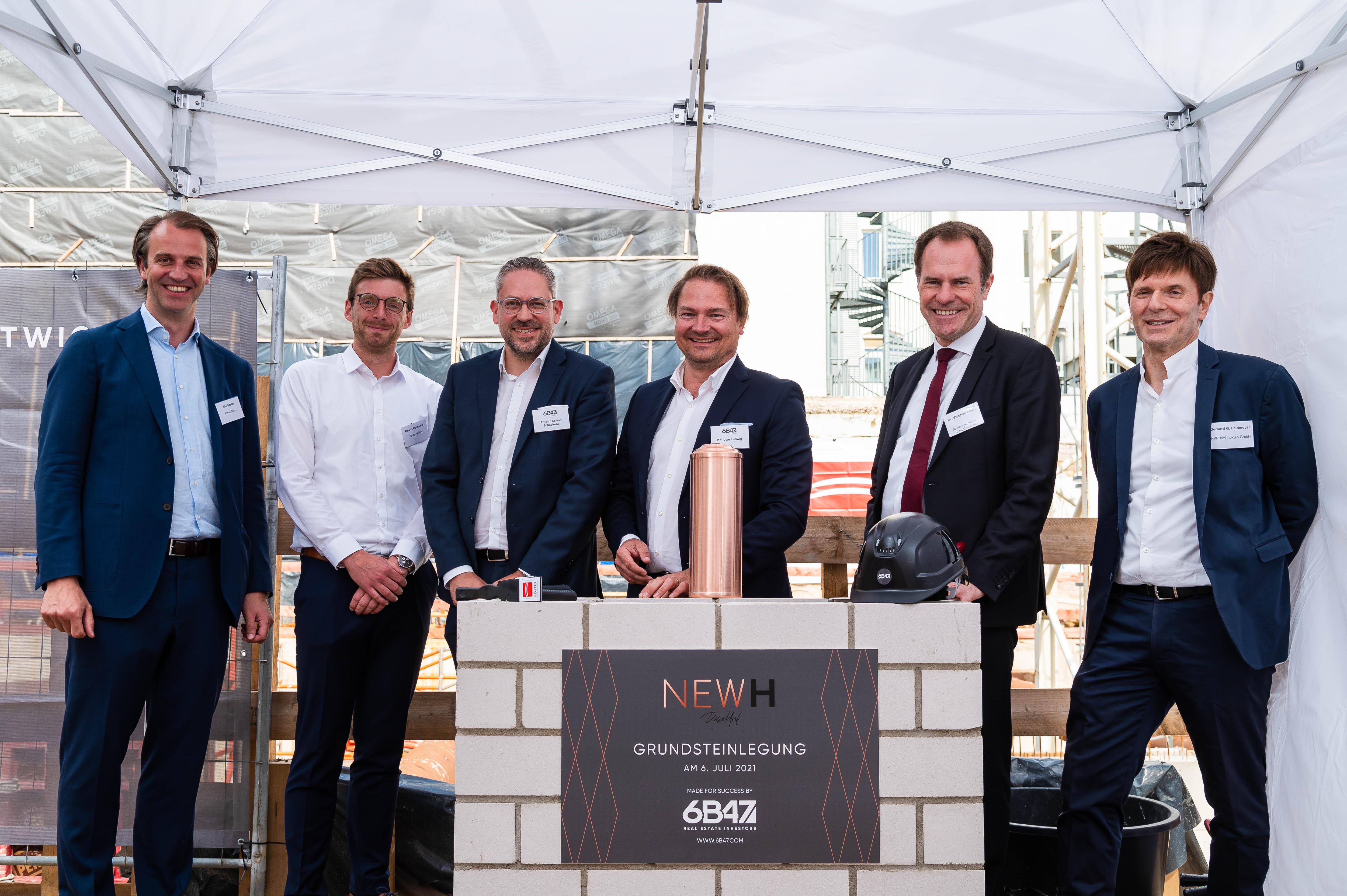 """6B47: Grundsteinlegung in Düsseldorf – Büro- und Geschäftshaus """"New H"""" wird neuer Nachbar der Deutschen Oper am Rhein"""