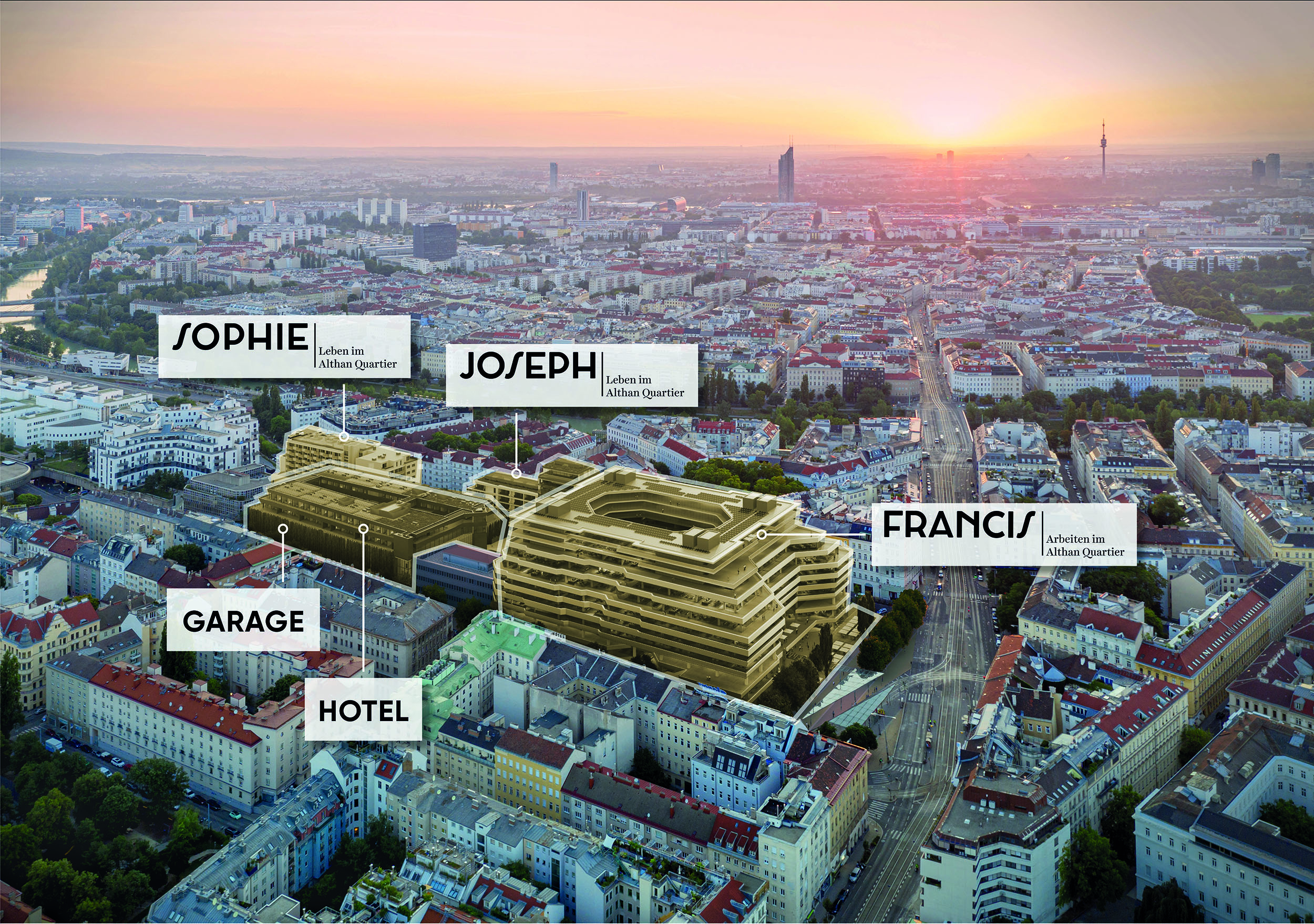 """From office location to urban hotspot: The """"Althan Quartier"""" in Vienna"""