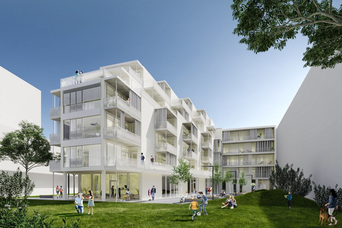 """Topping-Out Ceremony: """"Open Up! The New Vienna Apartment Building"""""""